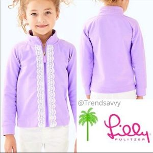 Lilly Pulitzer Girls Verbena Little Leon Lace Top